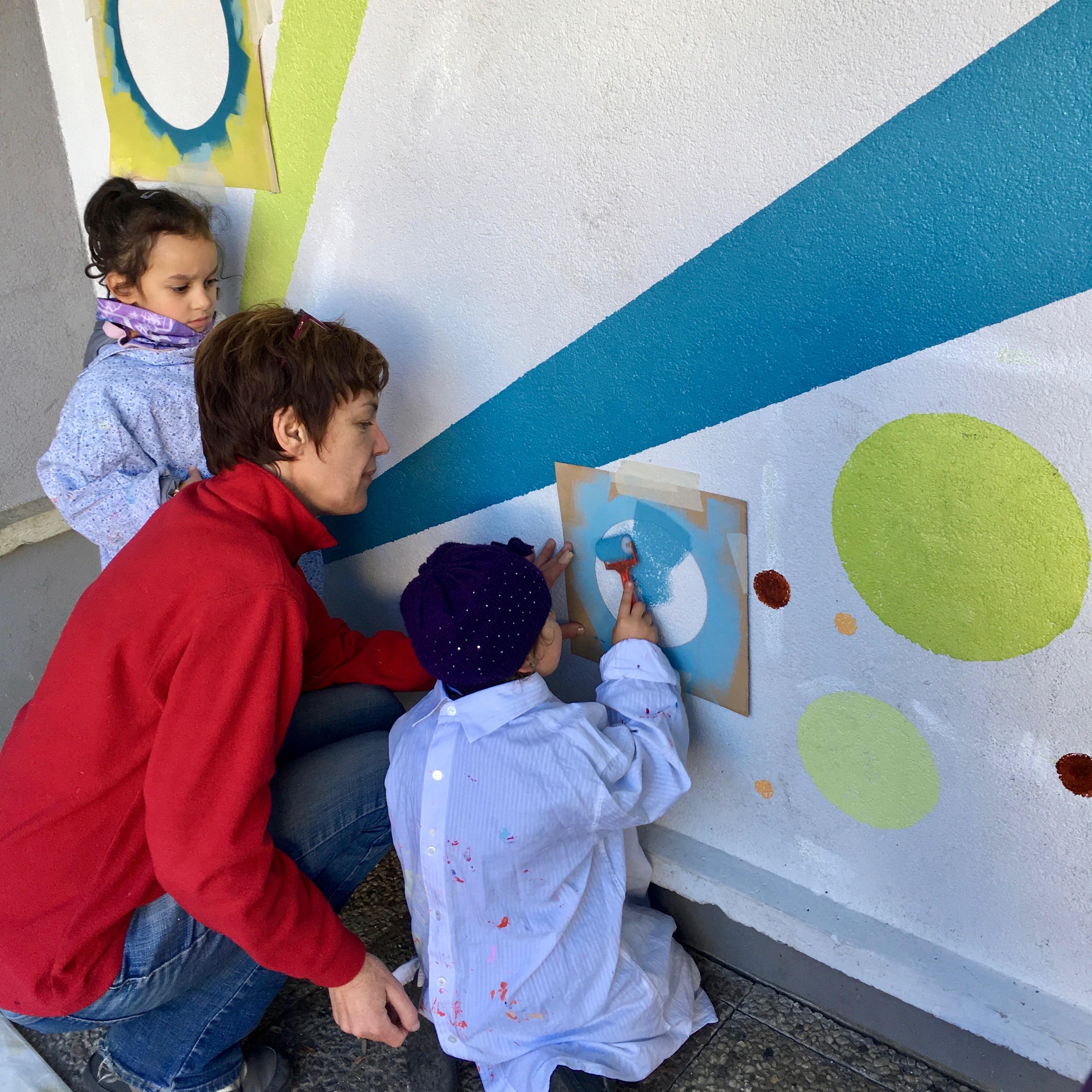 Chantier Participatif Peinture Murale Avec Les Enfants De La